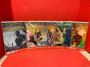 Lot Of 7 Iron Man #2,5,17,19-22 Iron Metropolitan Marvel Comics 2014 Land Guru