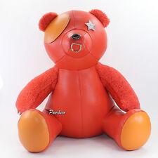 "NWT Coach Pebble Leather 15"" Star Bear Limited Edition F56846 Orange New RARE"
