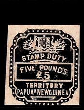 PNG  stamp duty  revenues  black  £5
