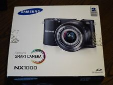 New Demo Samsung NX1000 Black 20.3MP Digital Camera w/ 20-50mm Lens Kit + Flash