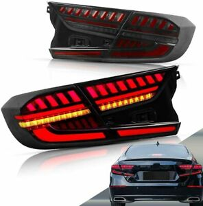 LED Blackout Tail Lights For Honda Accord 2018-2020 Start Up Animation Rear Lamp