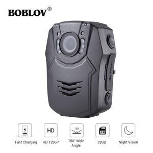 Boblov Body Worn Police Camera HD 1296P 32GB DVR Security Pocket Portable Kit