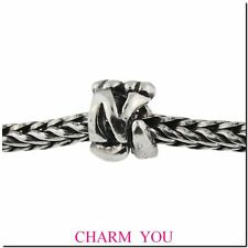AUTHENTIC TROLLBEADS 11144N Letter N silver initial