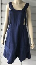 NWT Meadow Rue Anthropologie Chambray Jumper Dress Navy Blue US Sz 6/Uk 10