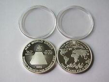 1 Onza Plata Plata Moneda de Plata Silbermedaillie New World Order - Mundial