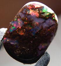Exquisite Multiple colored Australian Boulder Opal Gem.