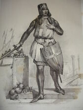 MOYEN AGE / GRAVURE 1840 / VILLEHARDOUIN