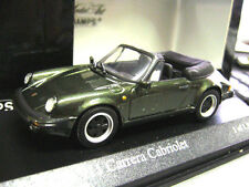 PORSCHE 911 930 Cabrio Cabriolet Carrera 1983 green met RAR PMA Minichamps 1:43