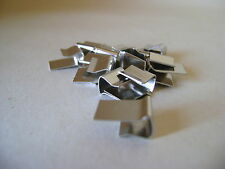 TEN EAZI CLIPS FOR FRAMELESS PICTURE MOUNTS - MAXIMUM THICKNESS 4mm FIXING