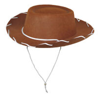 Childs Western Woody Style Kids Cowboy Ranch Hat BROWN