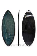 "52"" Epoxy EPS Skimboard Medium Pin Tail Blue Bamboo Carbon Skim Surf"