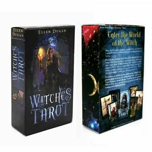 Witches Tarot Deck 78 Cards Divination Prophet Cards Family Party Games Playing