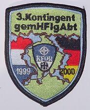 Patch Aufnäher NATO KFOR 3. Kontingent HFlgAbt 1999 - 2000 .........A2582