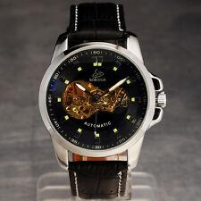 la marca de moda de lujo de los hombres esqueleto reloj mecánico automático