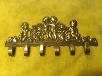 Vintage Brass  Key Holder Hook Towel Hook