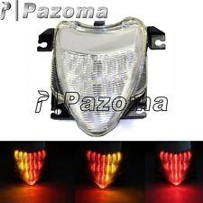Motorcycle Red Amber LED Tail Brake Turn Signal Light For Suzuki Boulevard M109R