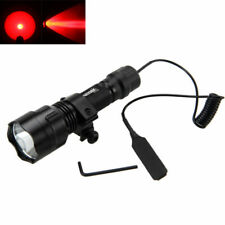 Tactical C8 Green/White/RED LED Flashlight Torch+25mm Gun Mount+Remote Switch