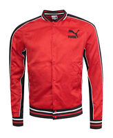 Puma SUPER Puma Satin Mens Bomber Jacket Coat Red 575222 05 CC56