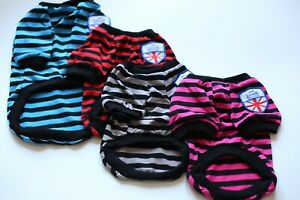 Small Puppy Dog winter warm apparel Sweatshirt stripes Clothes hoodie