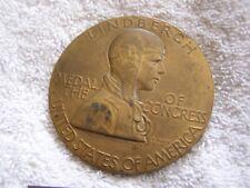 Antique Lindbergh Bronze Medal Soaring Eagle Laura Fraser 1928 paperweight