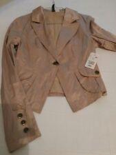 Veste courte effet froissé - rose poudré H&M t36 neuf avec étiq
