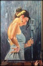 A SINGER - Acrilico su tela cm. 70 x 100