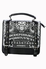 BANNED BLACK OCCULT OUIJA BOARD SKULL SATCHEL BAG HANDBAG GOTH ALTERNATIVE