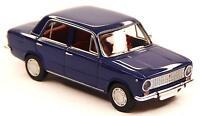 H0 BREKINA Personenkraftwagen FIAT 124 Polski Fiat saphirblau chrom DDR # 22412