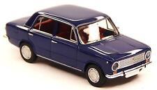 H0 BREKINA Personenkraftwagen FIAT 124 Polski Fiat  saphirblau chrom # 22412