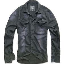 Camicie casual e maglie da uomo neri in cotone dal Perù