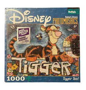 Disney PhotoMosaics R. Silver Tigger Too! 1000 Pc Puzzle Winnie the Pooh SEALED!