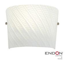 Glass Wall Light White Endon Farina RRP £72.00