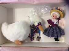 Madame Alexander   Mother Goose with stuffed Goose.   Retired 2003