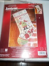 JANLYNN SANTA STUFF STOCKING COUNTED CROSS STITCH KIT COPYRIGHT 2009