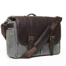 ONA 50/50 Brixton Canvas & Leather Camera/Messenger Bag (Smoke & Dark Truffle)