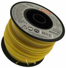 STIHL Square Strimmer Cord Nylon Line Yellow 3mm X 168m