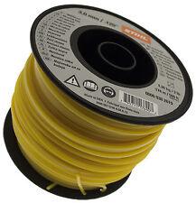 Línea De Nylon Cortadora Cable Stihl Cuadrado Amarillo 3mm X 168m