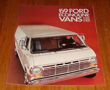Original 1969 Ford Econoline Van Sales Brochure E-100 E-200 E-300