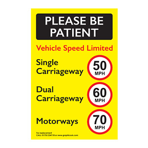 Speed Limited Sticker 50 MPH 60 MPH 70 MPH for Commercial Vehicle   Truck   Van