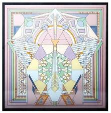 Frank Lloyd Wright Imperial Hotel Peacock Rug Design Stained Glass Art Panel