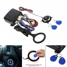 Car Engine Lock Push Start Button Rfid Button Engine Start Stop Immobilizer Kit