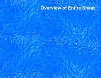 HO Scale Water Model Train Scenery Sheets –5 Seamless 8.5x11 Coverstock Lt Blue