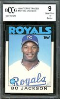 1986 Topps Traded #50T Bo Jackson Rookie Card BGS BCCG 9 Near Mint+