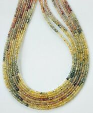 """Precious Natural Multi Sapphire Gemstone 2 MM Faceted Rondelle Stone 16"""" Beads"""