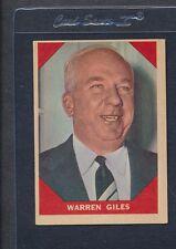 1960 Fleer Baseball Greats #073 Warren Giles EX *31