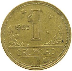 BRAZIL 1 CRUZEIRO 1955 #s54 113