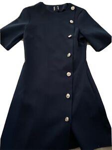 Asos Navy Button Down Dress - Size 8