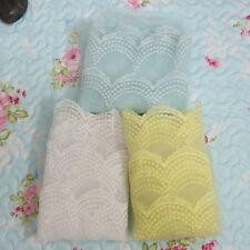 3 yard/lot  Wide 33cm  Glass yarn embroidery organza  lace garment  Fabric Trim