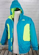 The North Face 2-in-1 Winter Coat Hooded Jacket Blue Green Youth Boys L 14/16