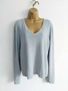 FATFACE Size 18 Pale Blue Jumper V.neck Cotton